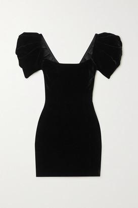 RALPH & RUSSO Velvet Mini Dress - Black