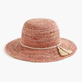 J.Crew Straw hat with tassels