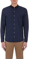 ATM Anthony Thomas Melillo Men's Grosgrain-Collar Shirt-NAVY