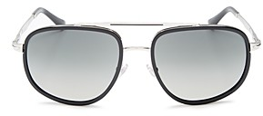 Persol Men's Brow Bar Aviator Sunglasses, 57mm