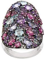 As Is Graziela Gems Multi-Gemstone Sterling Ring, 5.00 ct tw