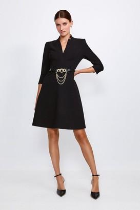 Karen Millen Forever Chain Belt A Line Dress