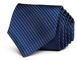 John Varvatos Brushed Tonal Check Classic Silk Tie