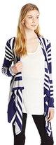 Three Seasons Maternity Women's Maternity Long Sleeve Stripe Cardigan 2 Fer Top