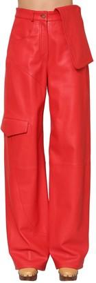 Jacquemus High Waist Leather Cargo Pants