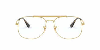 Ray-Ban RX6389 Square Metal Eyeglass Frames Non Polarized Prescription Eyewear