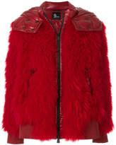 Moncler shaggy padded coat