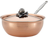 Ruffoni Opus Cupra Hammered Copper & Stainless Steel Covered Chef Pan