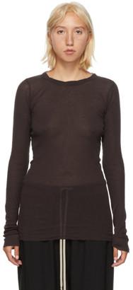 Rick Owens Burgundy Long Sleeve T-Shirt