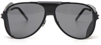Saint Laurent Eyewear Aviator Stud Detail Sunglasses