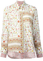 No.21 floral border print shirt - women - Silk - 40