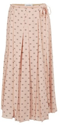 Valentino Long pleated skirt
