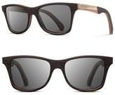Shwood Men's 'Canby' 55Mm Wood & Horn Sunglasses - Ebony/ Caramel Horn/ Grey
