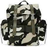 Valentino Green New Camo Rockstud Backpack