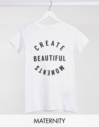 Mama Licious Mamalicious slogan T-shirt in white