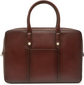 Reiss Reiss Louis - Leather Briefcase In Red