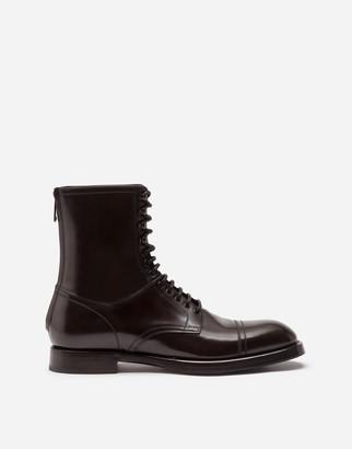 Dolce & Gabbana Brushed Calfskin Boots