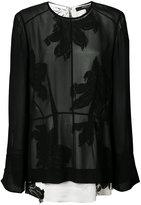 Derek Lam sheer floral print blouse