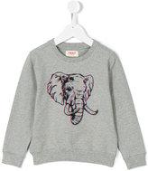 Maan - 3D elephant print sweatshirt - kids - Cotton/Spandex/Elastane - 4 yrs