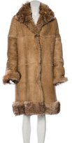 Chaiken Suede Shearling Coat