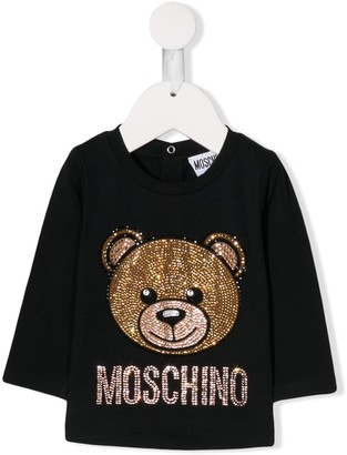 MOSCHINO BAMBINO Embellished Teddy Sweater