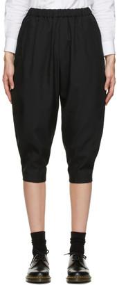 Comme des Garçons Comme des Garçons Black Oxford Pull-On Trousers