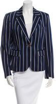 Burberry Striped Notch-Collar Blazer