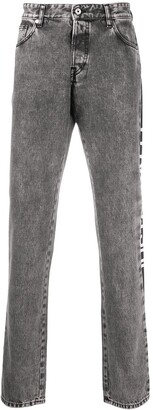 Just Cavalli Side Logo Straight-Leg Jeans