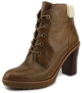 MICHAEL Michael Kors Kim Lace Up Bootie Women US 5.5 Brown Ankle Boot