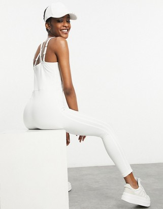 Ivy Park adidas x catsuit in core white
