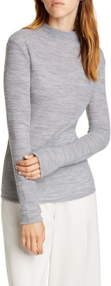 Vince Funnel Neck Fitted Wool Blend Sweater