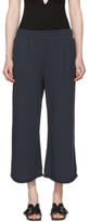 Alexander Wang Navy Wide Pull-on Lounge Pants