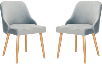 Safavieh Set Of 2 Lulu Upholstered Dining Chairs
