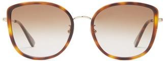 Gucci Oversized Round Acetate Sunglasses - Brown