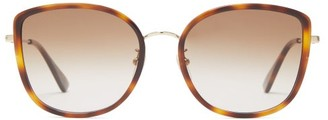 Gucci Oversized Round Acetate Sunglasses - Womens - Brown