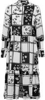 Mother of Pearl Martha printed silk-crepe midi dress