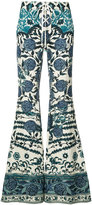 Roberto Cavalli bell-bottom trousers - women - Cotton/Hemp - 42