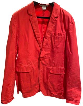 Carven Orange Cotton Jackets