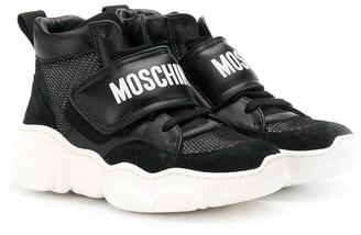 MOSCHINO BAMBINO Hi-Top Logo Sneakers