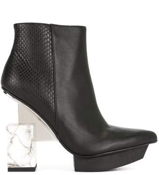 United Nude cube heel ankle boots