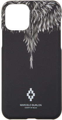 Marcelo Burlon County of Milan Black and White Sharp Wings iPhone 11 Pro Case