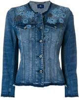 7 For All Mankind floral denim jacket