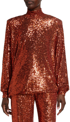 Naeem Khan Sequin Dolman Tunic