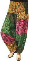 Maple Clothing Womens Smocked Waist Hippie Cotton Harem Pants Multicolor