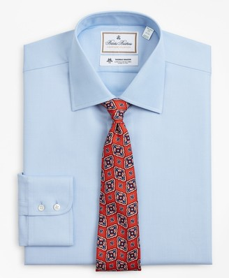 Brooks Brothers Luxury Collection Milano Slim-Fit Dress Shirt, Franklin Spread Collar Dobby