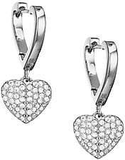 Kate Spade Women's Pavé Cubic Zirconia Heart Earrings