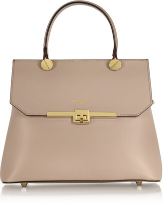 Le Parmentier Atlanta Genuine Leather Top Handle Satchel Bag W/Shoulder Strap