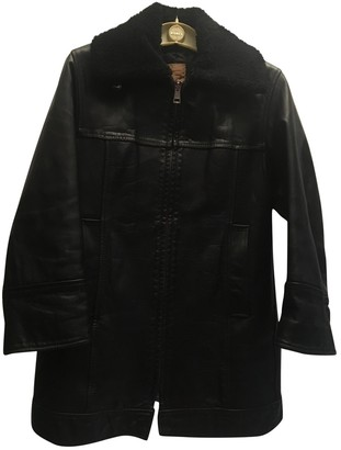 Romeo Gigli Black Leather Leather Jacket for Women Vintage