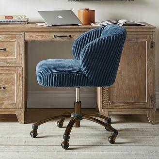 Pottery Barn Teen Midnight Chamois Wingback Swivel Desk Chair