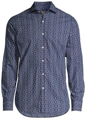 Canali Mini Floral-Print Sport Shirt